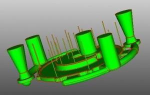 3D-Modell mit Gießtechnik
